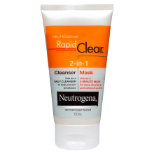 Neutrogena® Rapid Clear® 2-in-1 Cleanser Mask 150mL