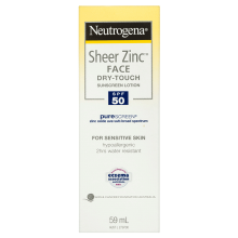 Neutrogena® Sheer Zinc™ Face Lotion SPF50 59mL