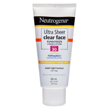 Neutrogena® Ultra Sheer® Clear Face Lotion SPF30 88mL