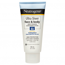 Neutrogena® Ultra Sheer® Face & Body Lotion SPF50+ 88mL