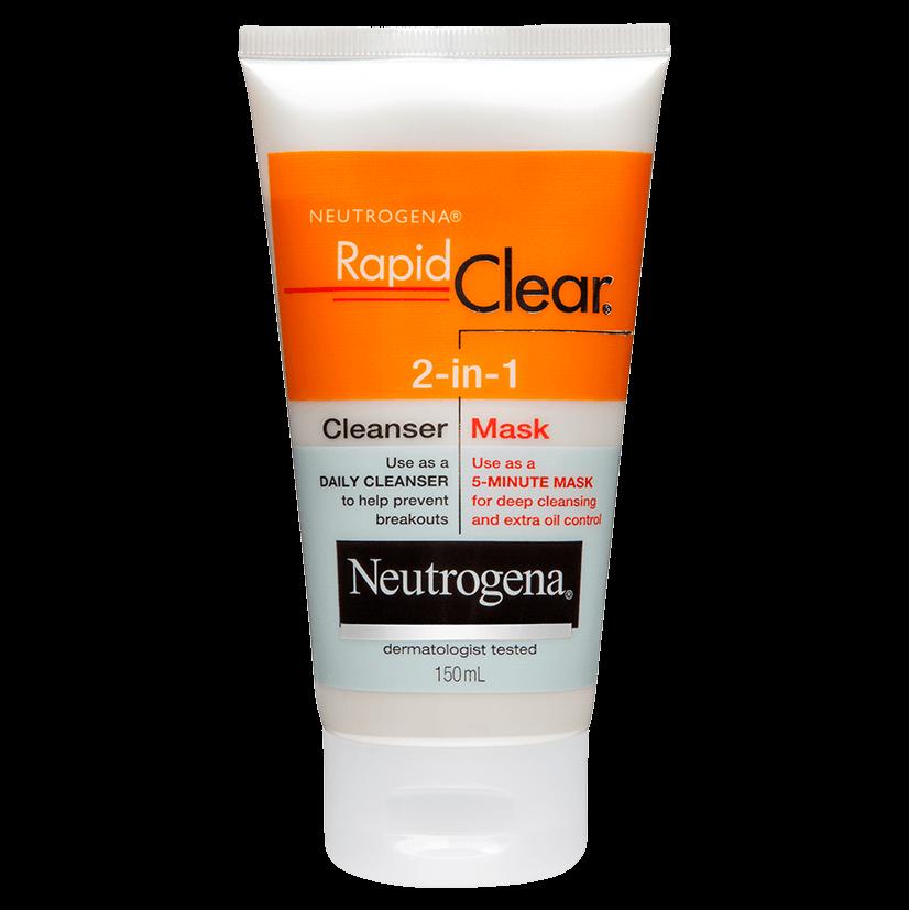 Neutrogena® Rapid Clear® 2-in-1 Cleanser Mask 150mL
