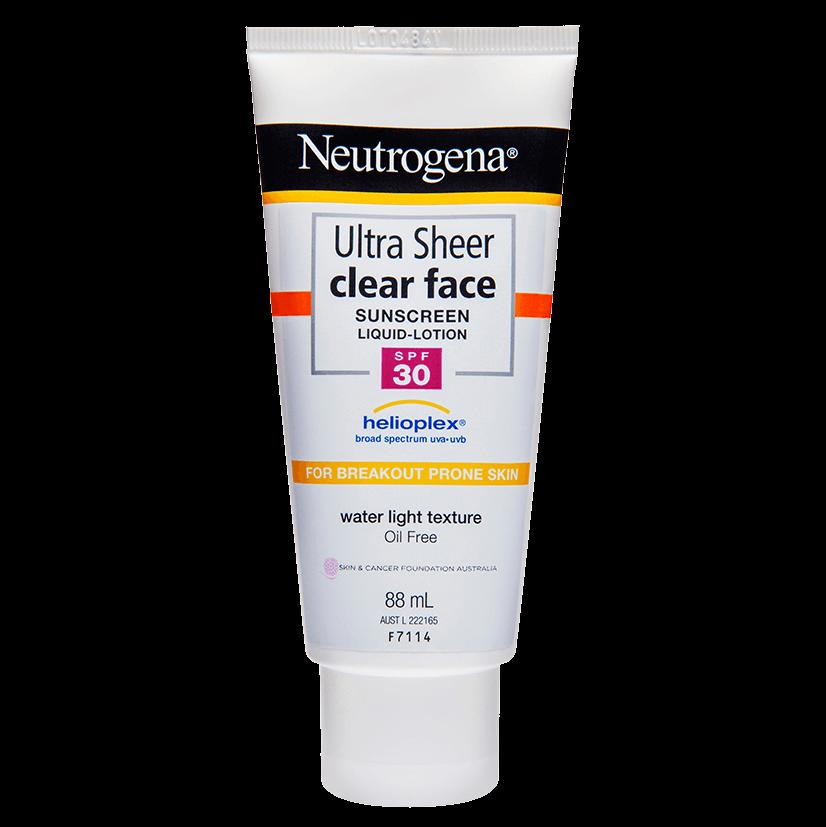 Neutrogena® Ultra Sheer® Clear Face Lotion SPF30 88mL